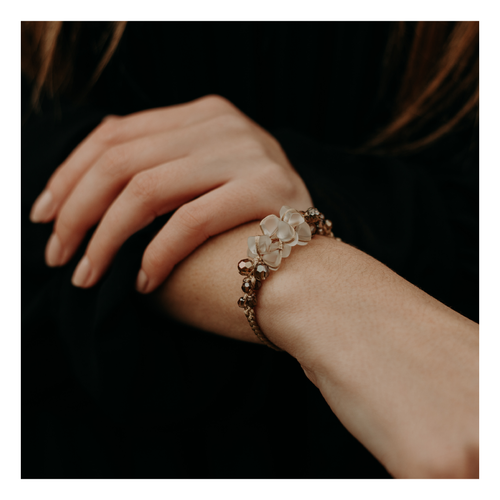 Image of Bracelet en verre dépoli