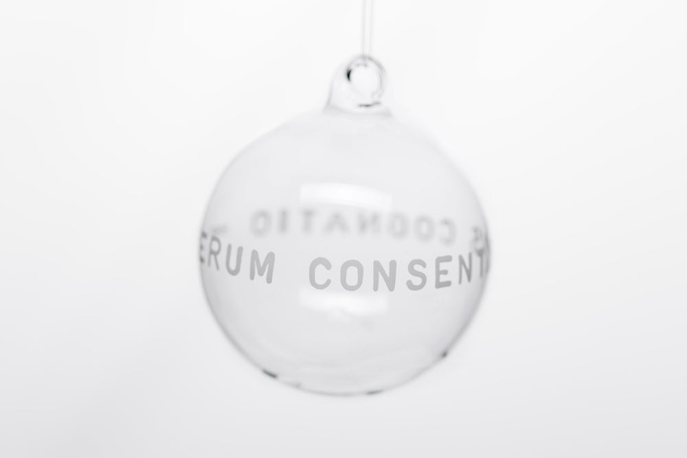 Image of VERBA 8cm Christmas tree ball with inscription