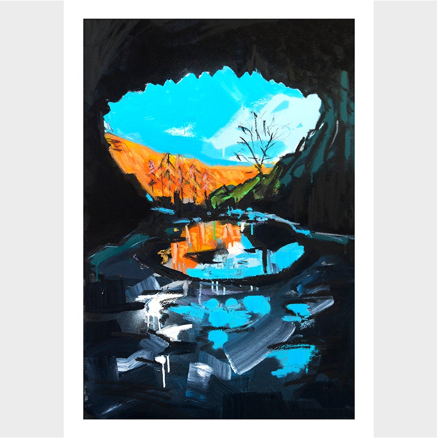 Image of Inside Rydal Cave -Limited Edition Giclée Print - A2