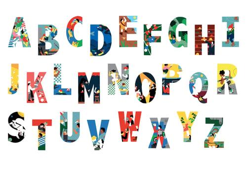 Image of Alphabet Prints A3