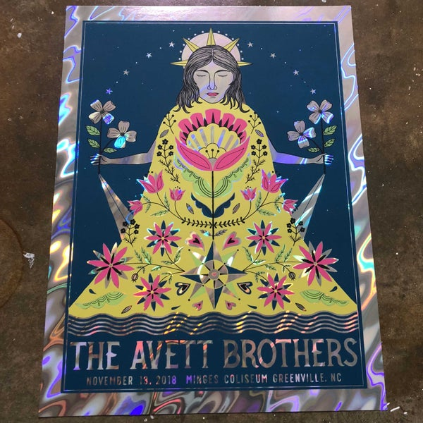 Image of The Avett Brothers Greenville Lava Foil Variant