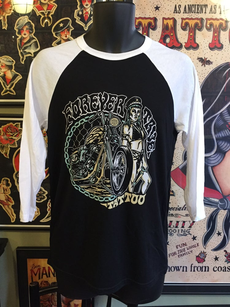 Image of Forever True Tattoo Biker Chick - 3/4 sleeve