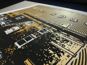 Image of DC Space Silk Screened Art Print, Gold Edition