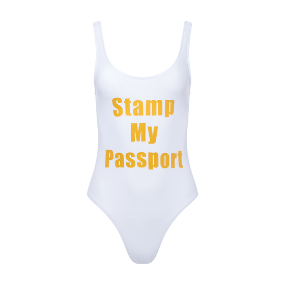 Image of Stamp My Passport High Cut Swimsuit