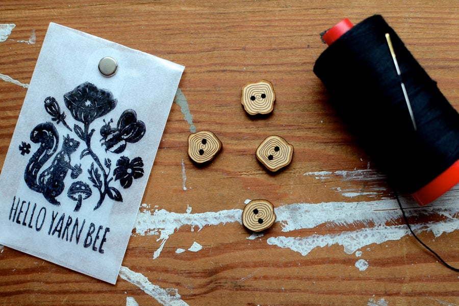 """Image of  """"Tree Cookies"""" Maple Buttons by Hello Yarn Bee - Small"""