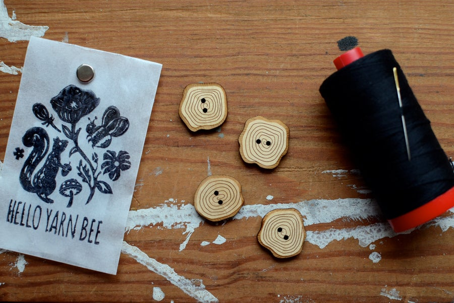 "Image of ""Tree Cookies"" Maple Buttons by Hello Yarn Bee - Large"