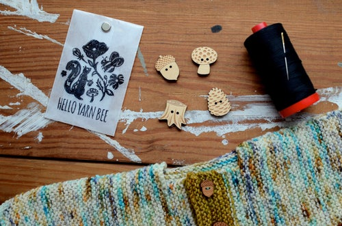 "Image of ""Woodland"" Maple Buttons by Hello Yarn Bee - Large"