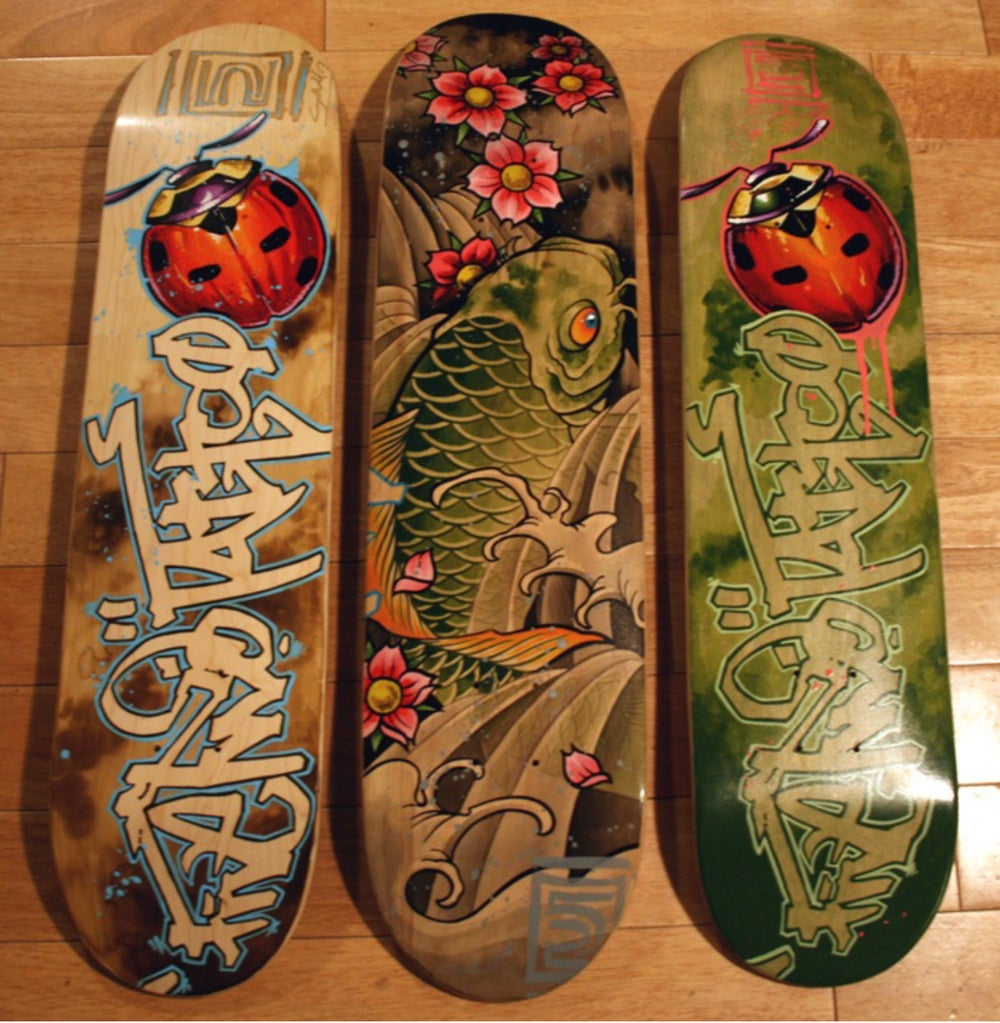 Image of Hand painted skate deck