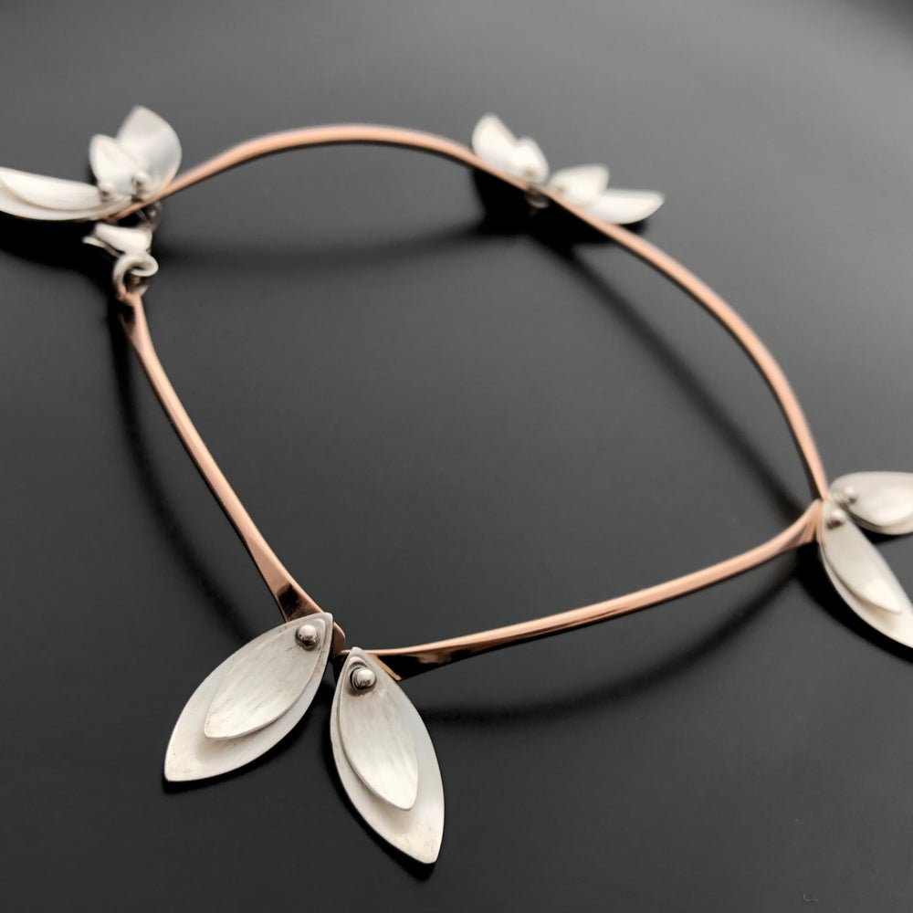 Image of Skinny Leaves Bracelet - Rose, Yellow or Sterling Silver