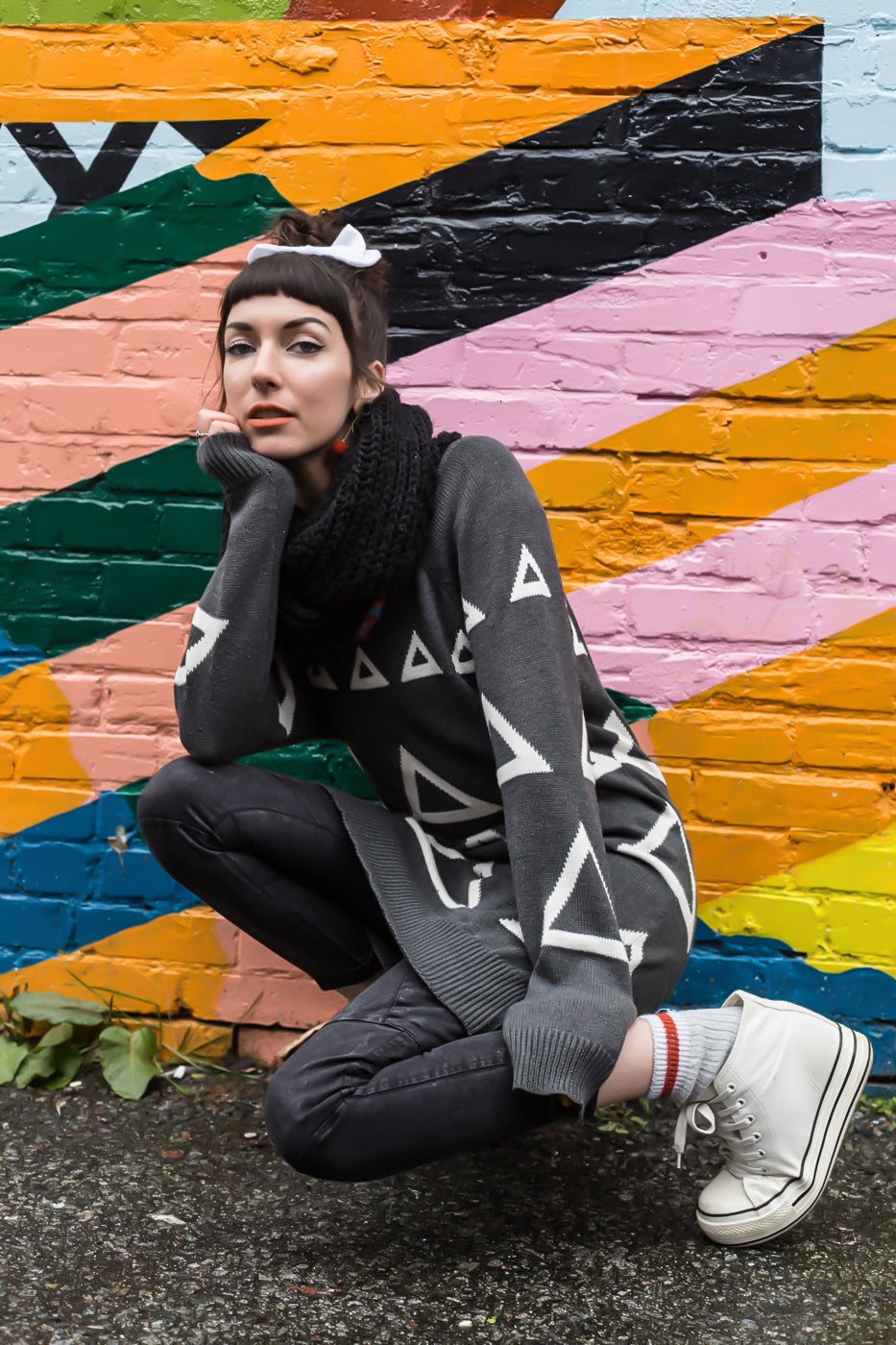 Image of Unisex Triangles Sweater Triangles