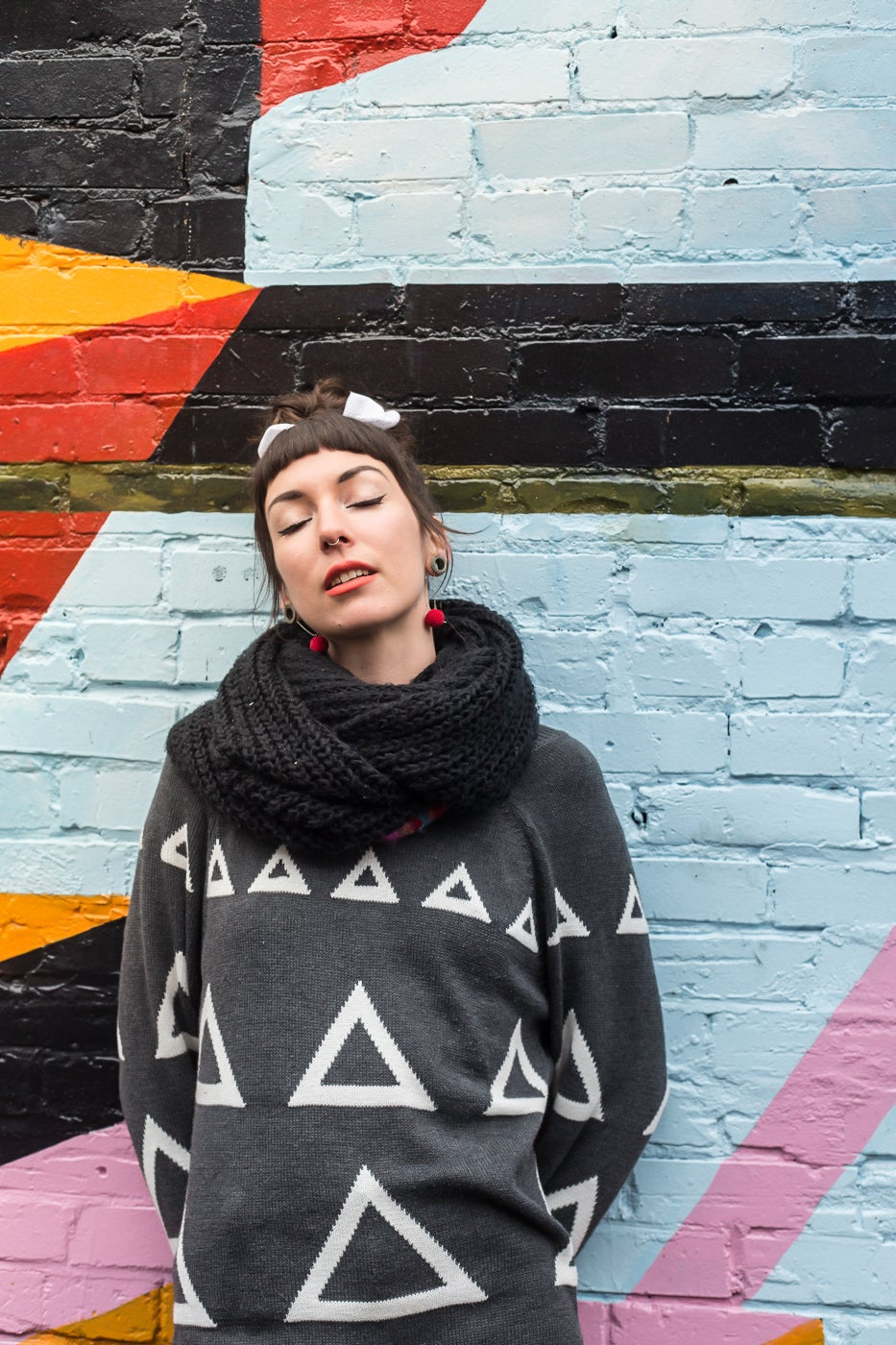 Image of Unisex Triangles Sweater Triangles 50% OFF