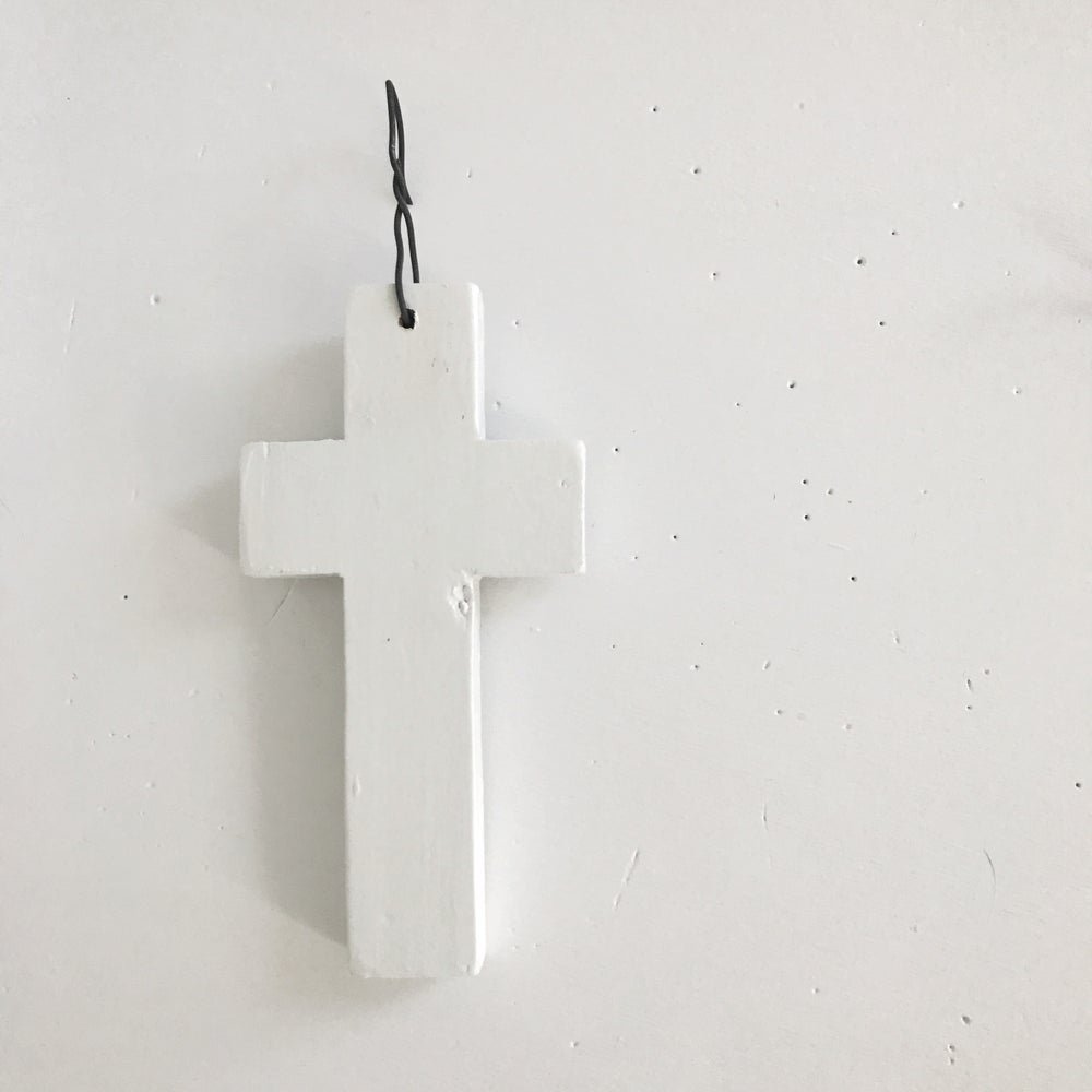 Image of Simple Tree Ornament - white cross