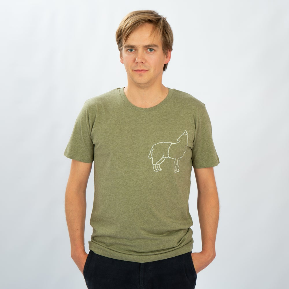 Image of T-SHIRT MAN short sleeve WOLFSHEEP olive