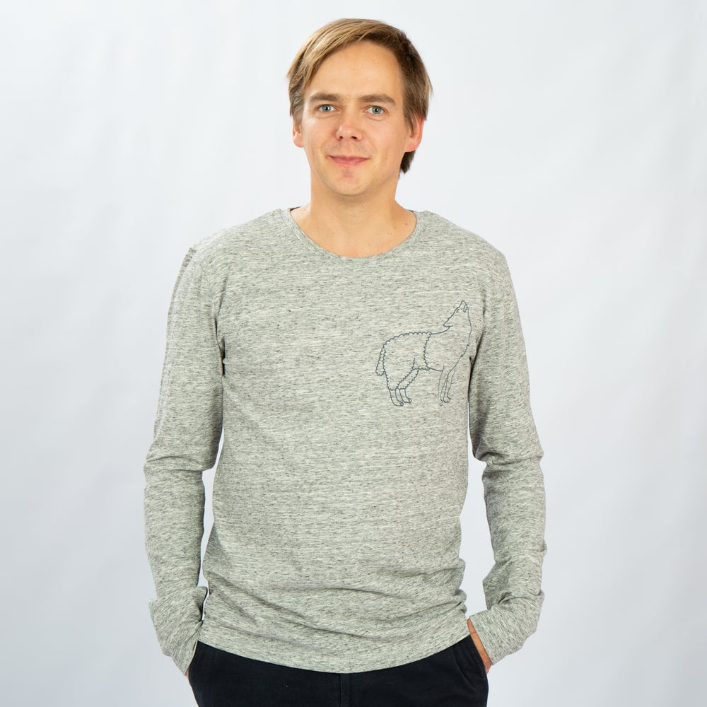 Image of T-SHIRT MAN long sleeve WOLFSHEEP grey