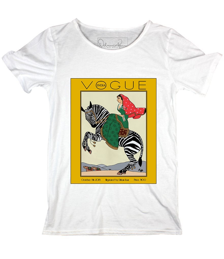 Image of Rani on a Zebra - UNISEX TEE