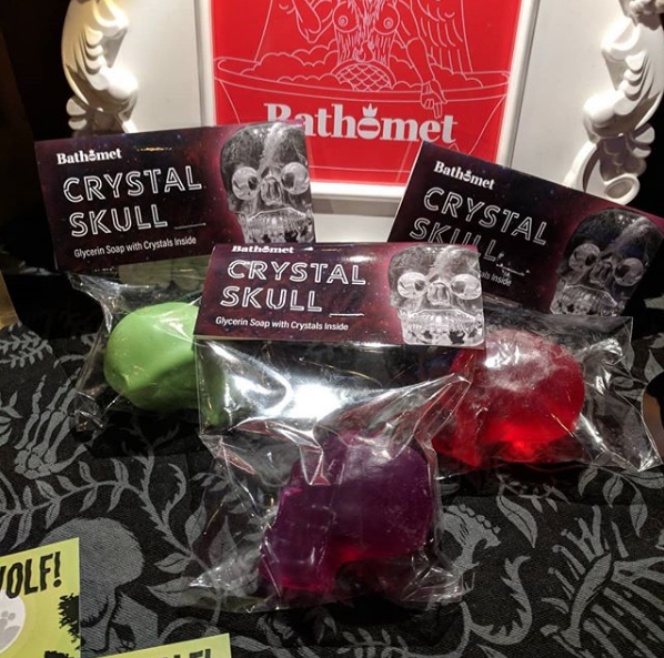 Image of Crystal Skull Hand Soaps - With a hidden surprise!