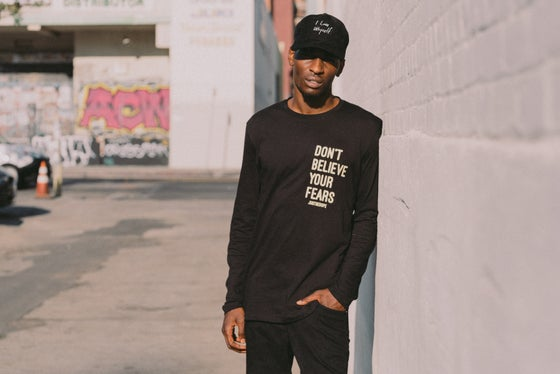 "Image of Black ""Don't Believe Your Fears"" Long sleeve"