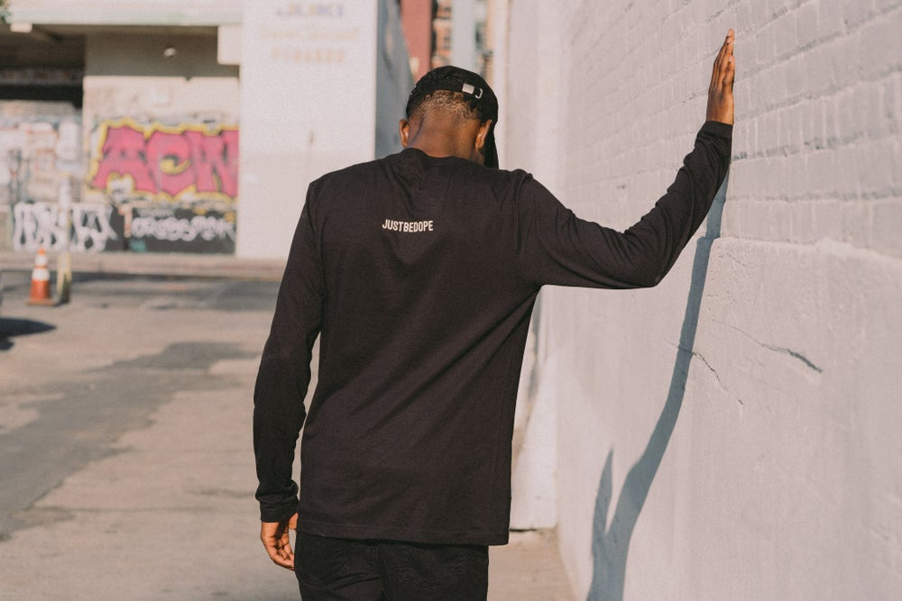"""Image of Black """"Don't Believe Your Fears"""" Long sleeve"""