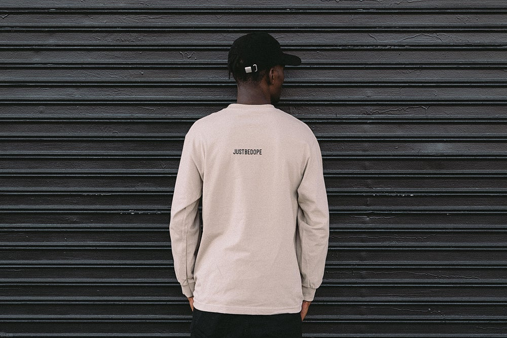 Image of Sand DBYF Black Long Sleeve