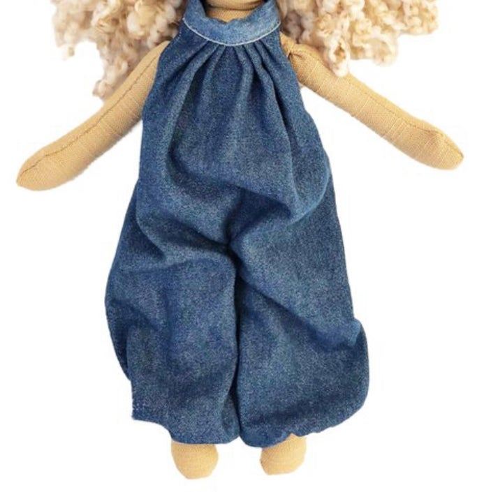 Image of Denim jumper- doll accessory