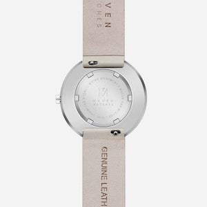 Image of MAVEN - Leather Watches (Smoke Green Offwhite) | 34mm