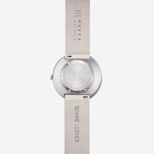 Image of MAVEN - Leather Watches (Smoke Green Offwhite) | 40mm