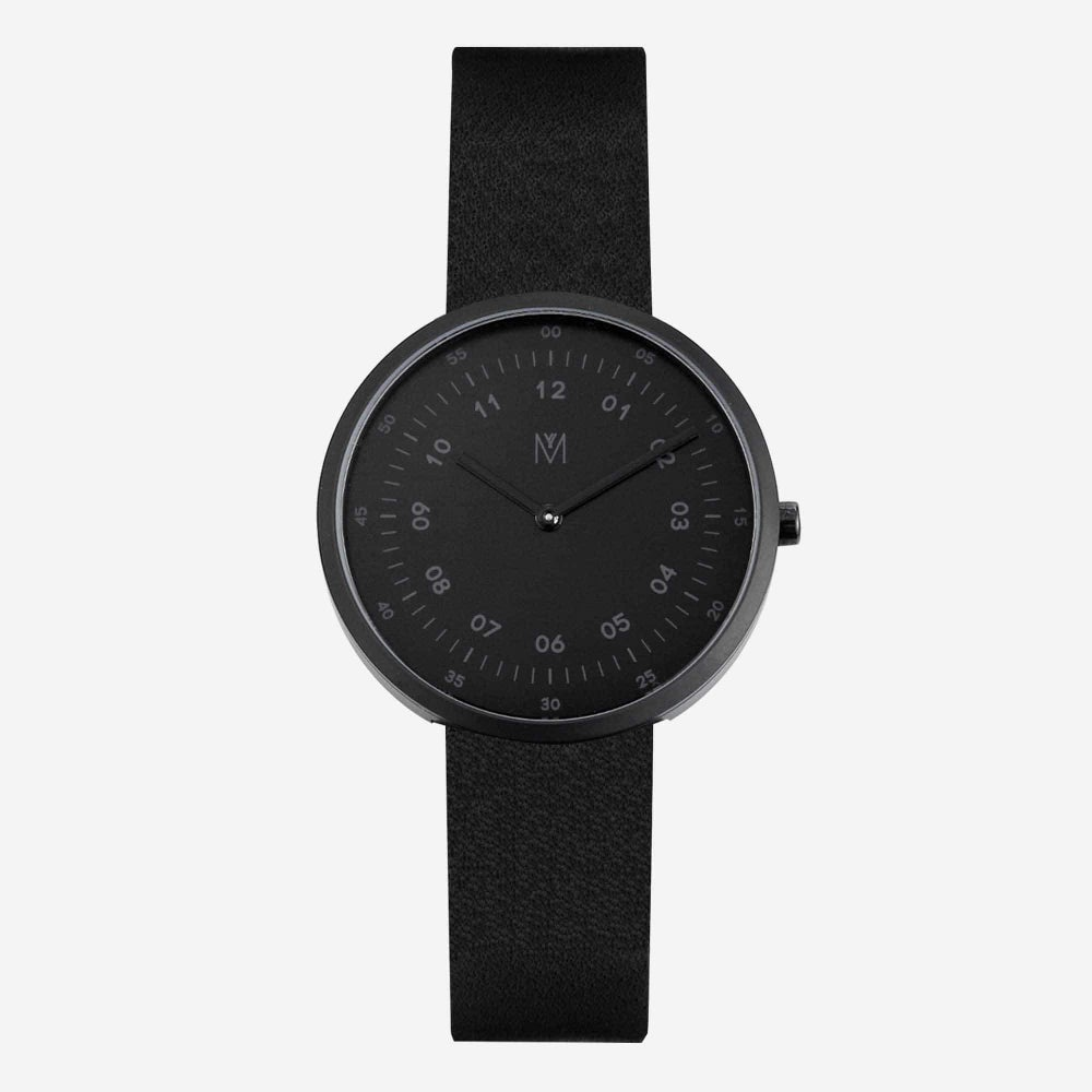 Image of MAVEN - Leather Watches (Shadow Black) | 34mm