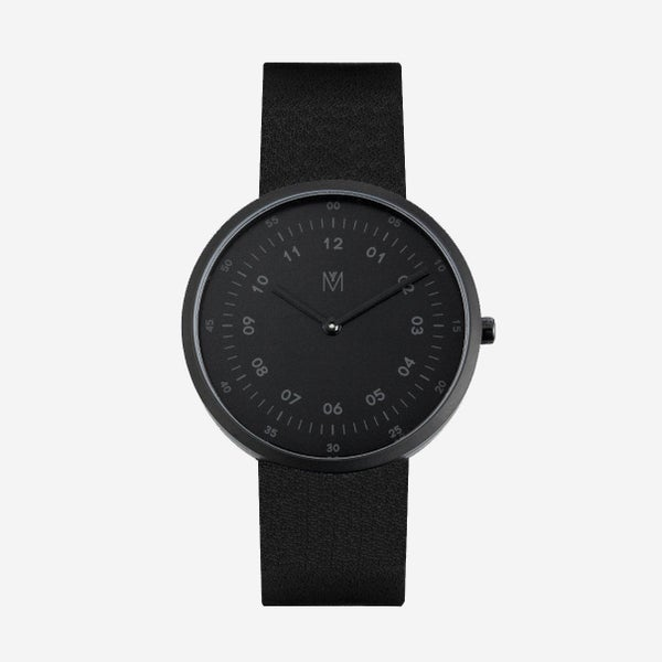 Image of MAVEN - Leather Watches (Shadow Black) | 40mm