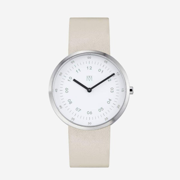 Image of MAVEN - Leather Watches (Drizzle Offwhite) | 40mm
