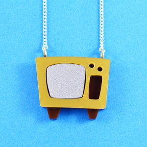 Image of Television Necklace or Brooch