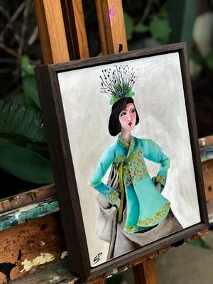 "Image of "" Sassy Bride"" 35cmx27cm x5cm Original Painting"