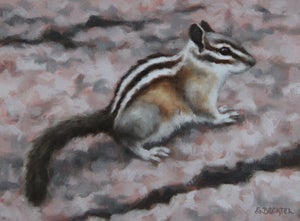 "Image of ""Western Chipmunk I"" Original Oil Painting"