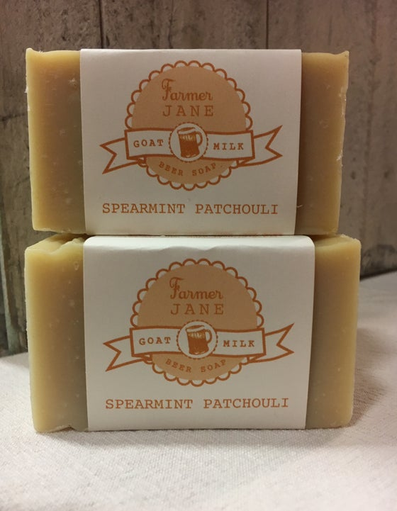 Image of Spearmint Patchouli Beer Soap