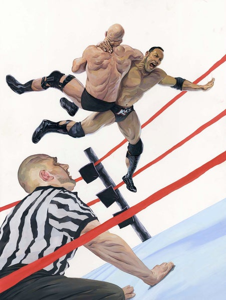 Image of The Rock / Stone Cold Orignal Painting