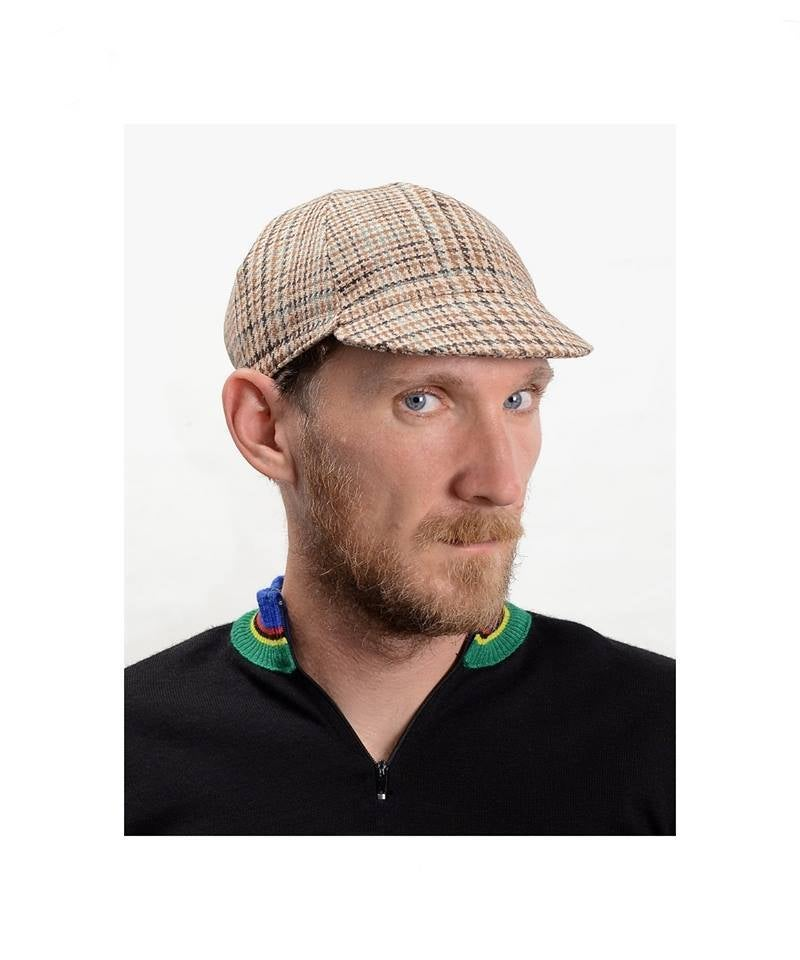 Image of Serin Sherlock tweed bicycle cap
