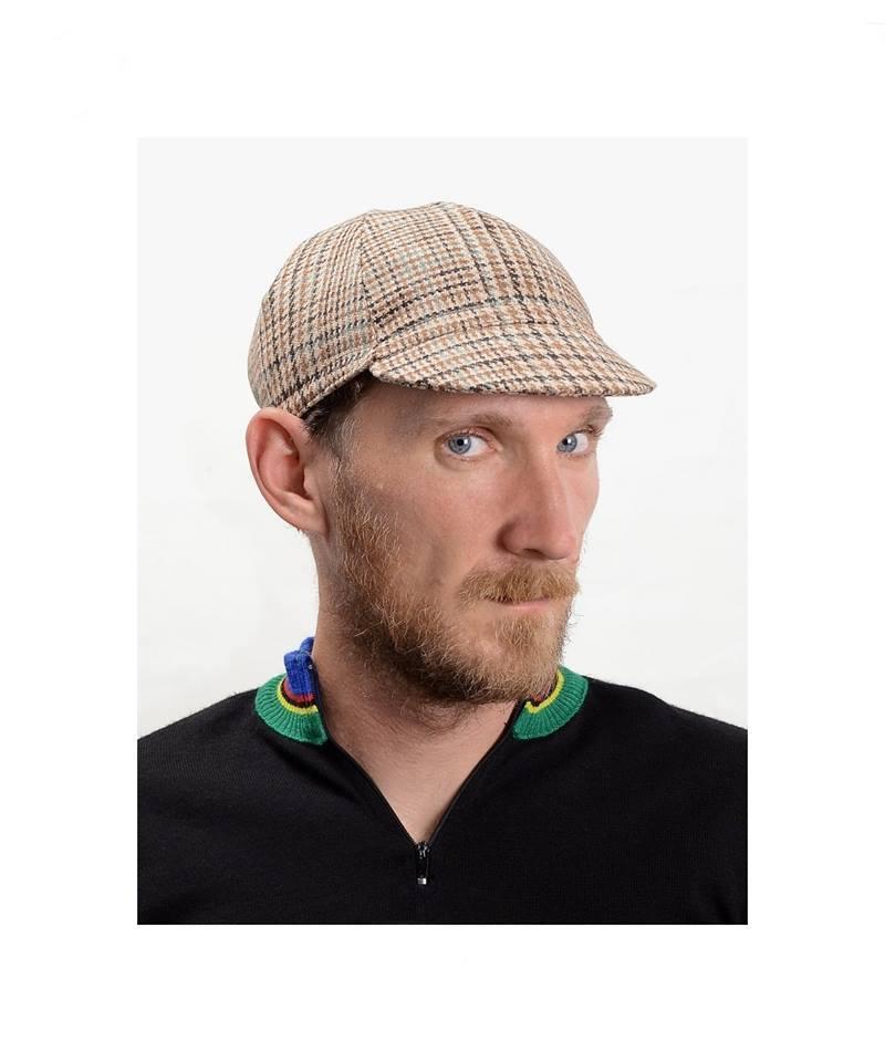 Image of Serin Sherlock tweed bicycle cap