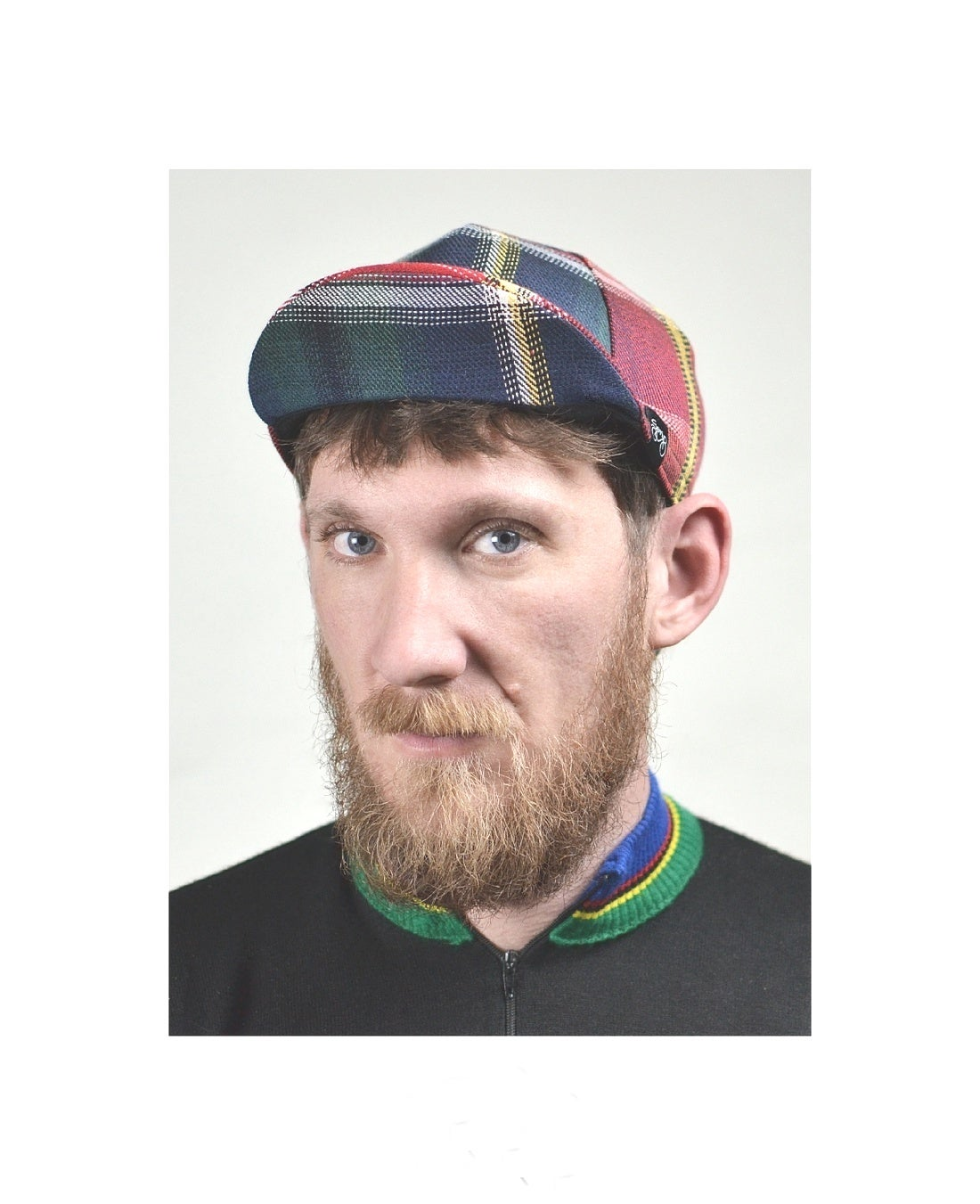Image of Serin checked bicycle cap