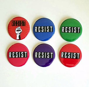 Image of 2.25' Resist pinback buttons