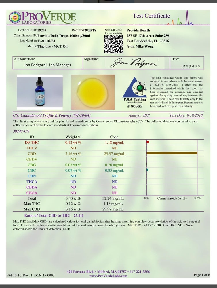 Image of 1000mg Full Spectrum Sublingual Hemp Extract