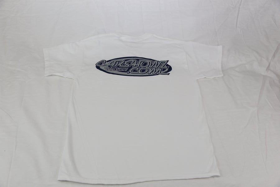 Image of CarShowz.com White Logo Tee