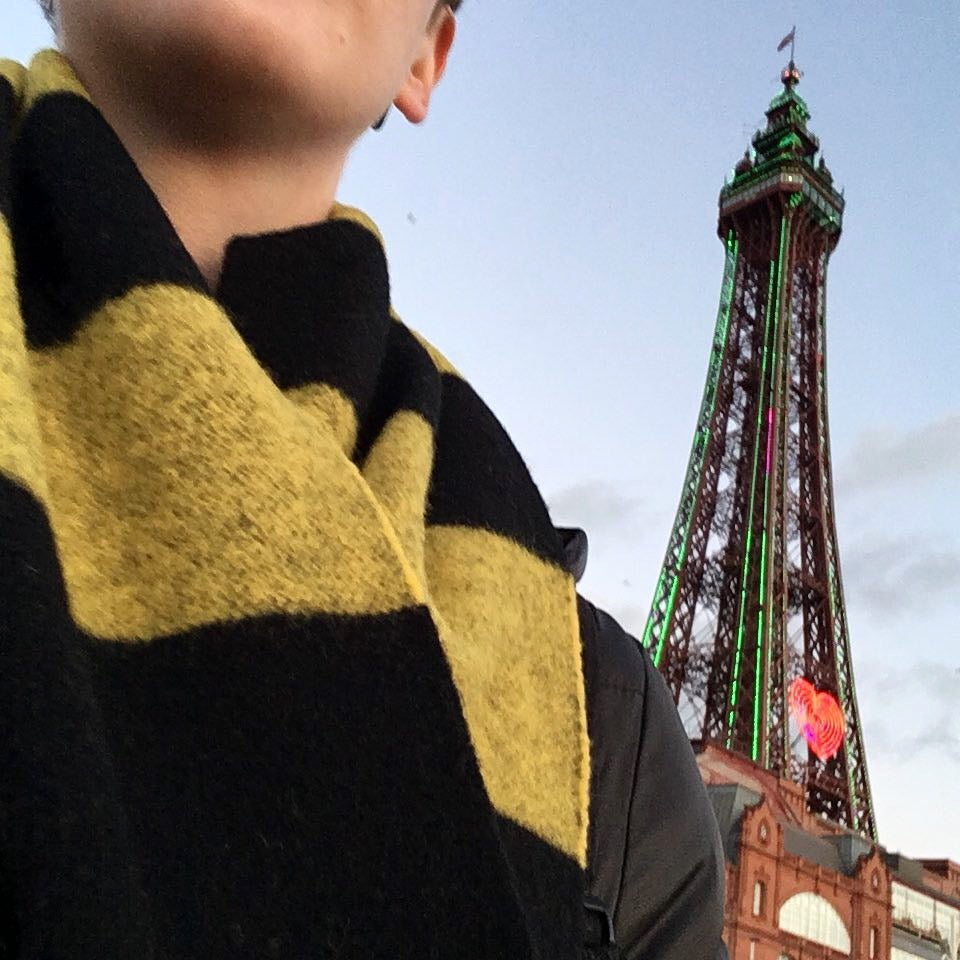 Image of Lomax wool bee stripe scarf in Yellow + Black by Ollie + Fred