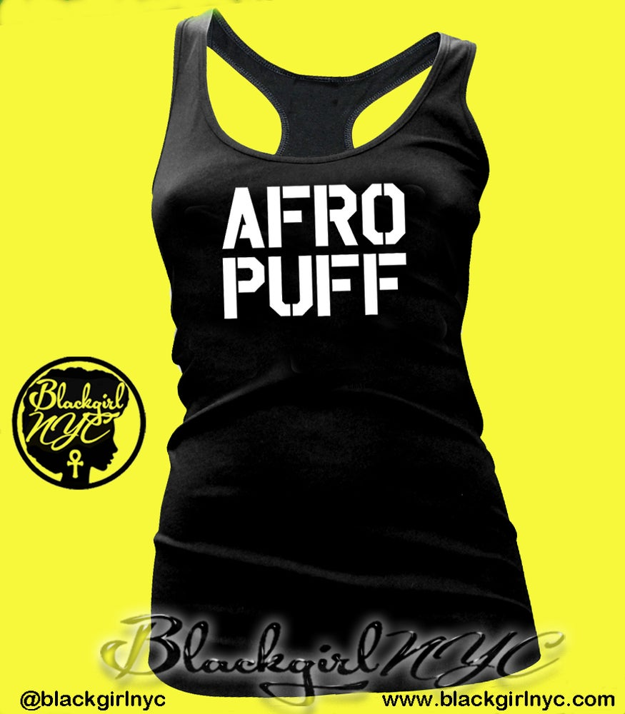 Image of AFRO PUFF Racerback Tank Top
