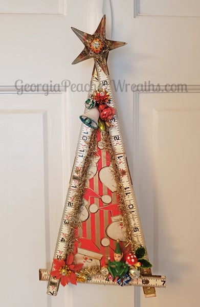 Image of Vintage Ruler Christmas Tree #101