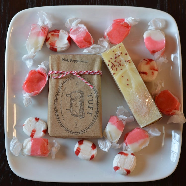 Image of Pink Peppermint - Luxury Bath Bar and Natural Lanolin Wool Wash