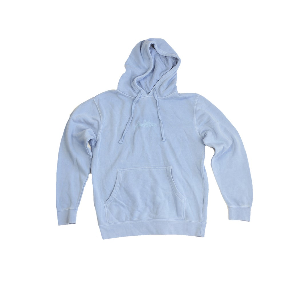 Image of Dyed Baby blue hoodie