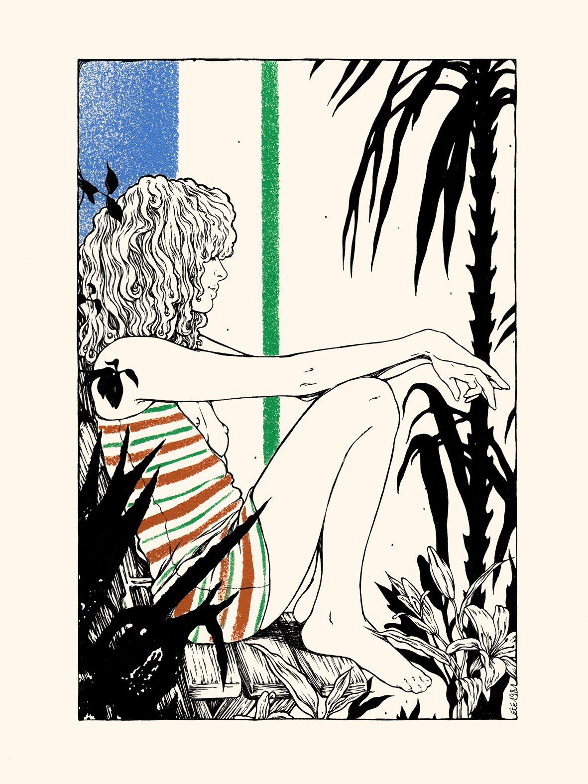 Image of LE JARDIN AUX AGAVES 30x40 cm