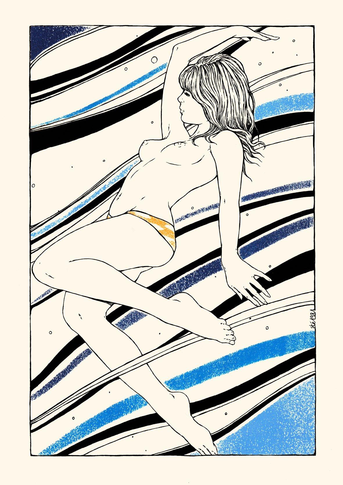 Image of LA VAGUE 21x29,7 cm