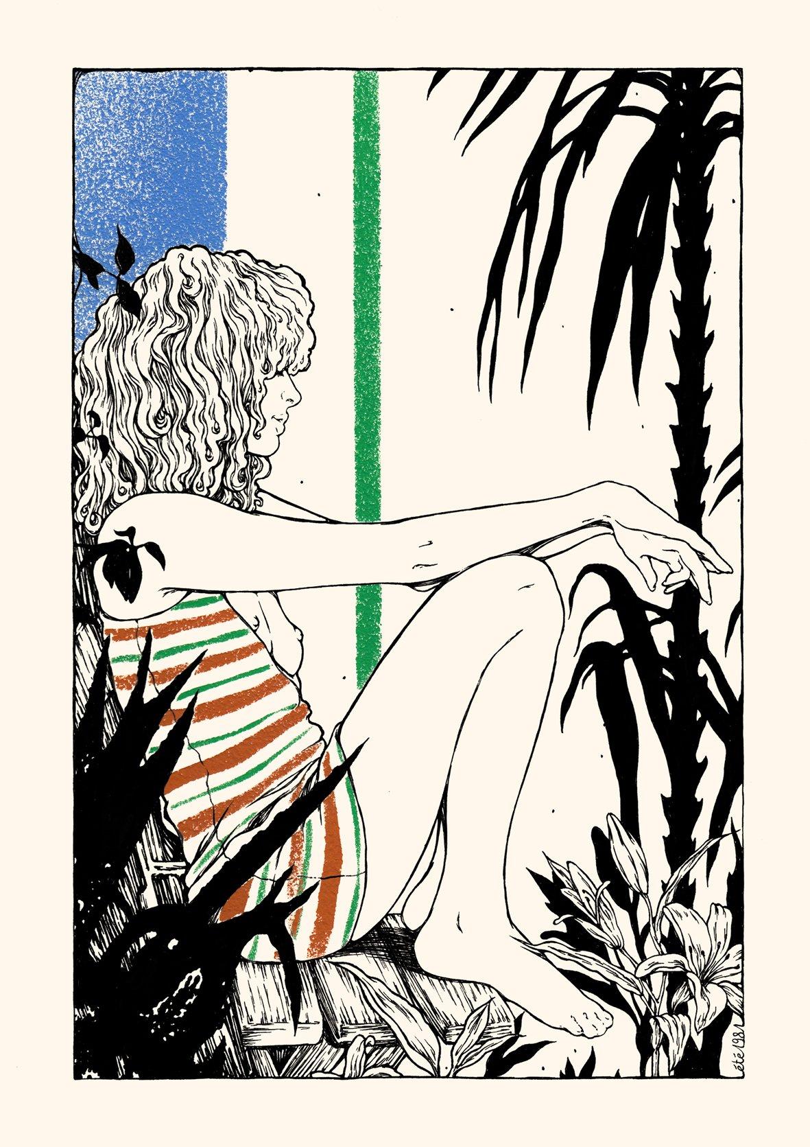 Image of LE JARDIN AUX AGAVES 21x29,7cm