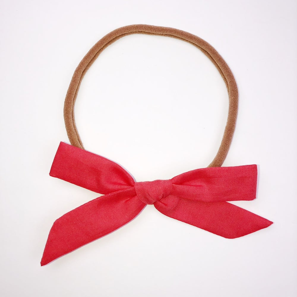 Image of Schoolgirl Bow // Cherry Red Liberty of London [Limited Edition]
