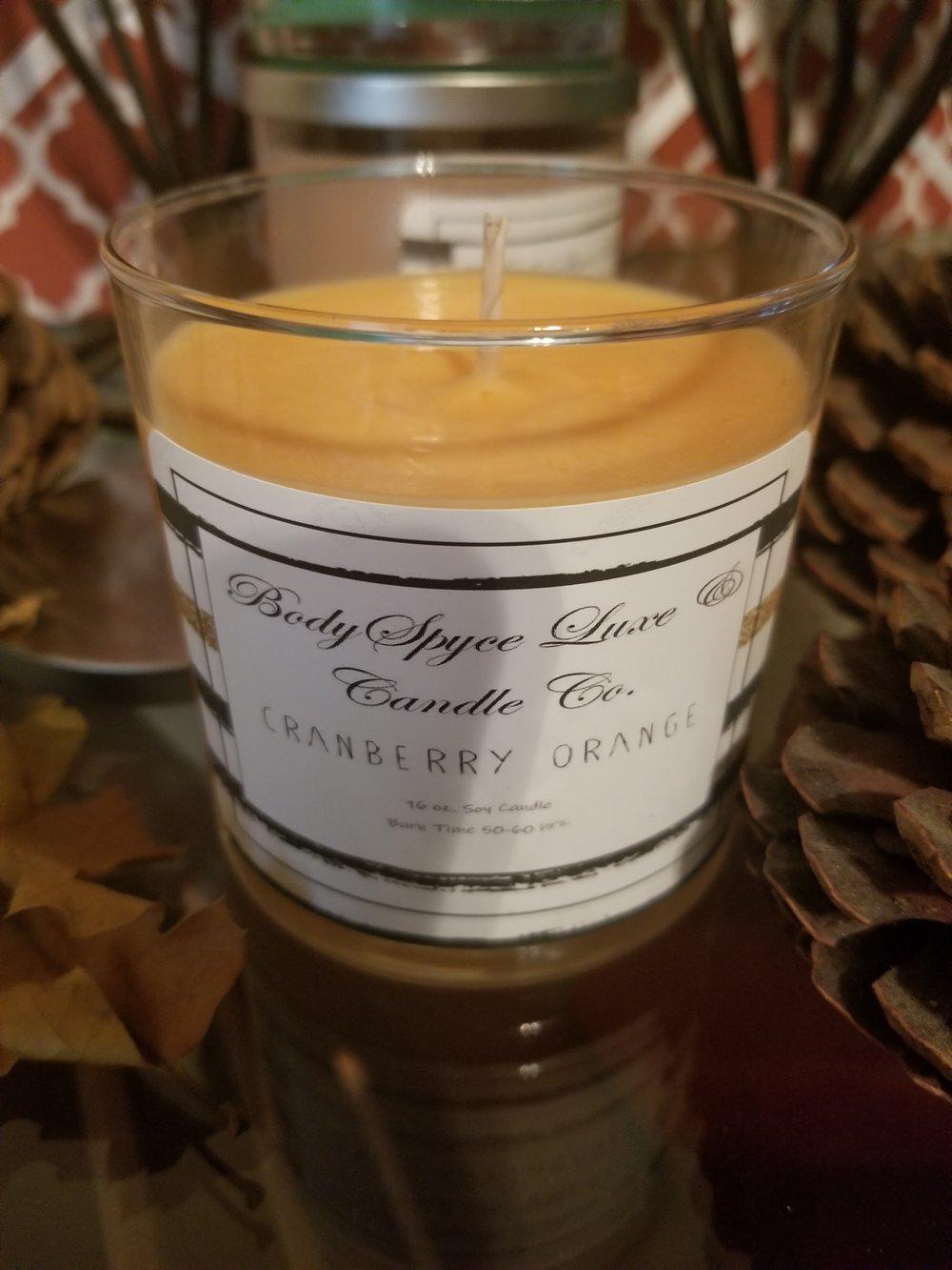 Image of Cranberry Orange Soy Candle - CLOSEOUT SEASONAL ITEM
